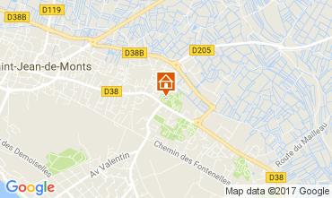 Mapa Saint Jean de Monts Mobil Home 112545