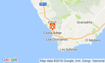 Mapa Playa de las Américas Apartamentos 113485