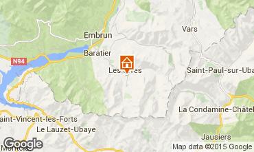 Mapa Les Orres Apartamentos 50584