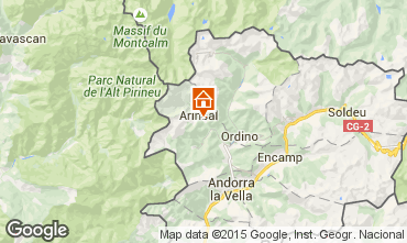 Mapa Pal-Arinsal Casa de turismo rural/Casa de campo 69595