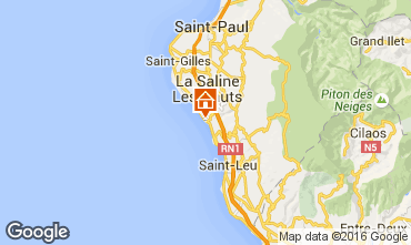 Mapa La Saline les Bains Vivenda 102826