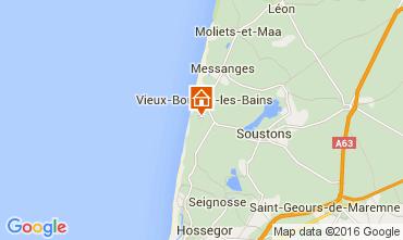 Mapa Soustons Apartamentos 104127