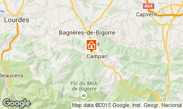 Mapa Bagnères de Bigorre Casa de turismo rural/Casa de campo 70295