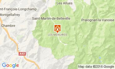 Mapa Les Menuires Chalé 60440