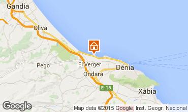 Mapa Dénia Apartamentos 76203