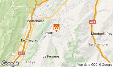 Mapa Allevard les Bains Apartamentos 103437