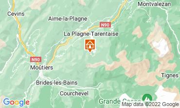 Mapa La Plagne Apartamentos 77055