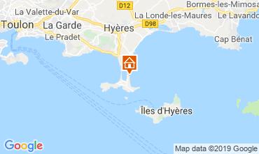 Mapa Hyères Apartamentos 118190