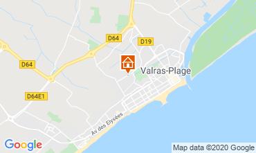 Mapa Valras-Praia Vivenda 100786