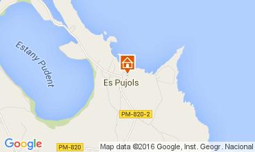 Mapa Es Pujols Apartamentos 45449