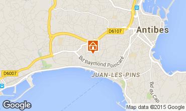 Mapa Juan les Pins Apartamentos 80031