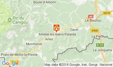Mapa Amélie-Les-Bains Estúdio 79307
