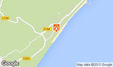 Mapa Narbonne praia Apartamentos 30901