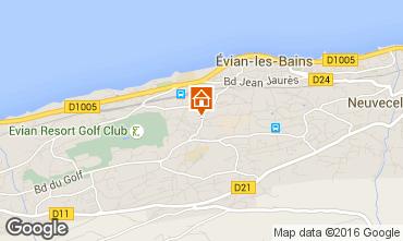 Mapa Evian les Bains Apartamentos 102399