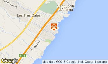 Mapa La Ametlla de Mar Vivenda 84456