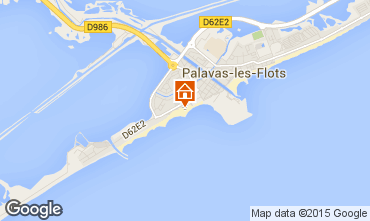 Mapa Palavas-les-Flots Apartamentos 26554