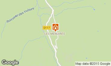 Mapa Les Menuires Apartamentos 1631
