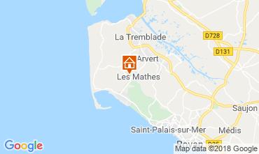 Mapa Les Mathes Mobil Home 117193