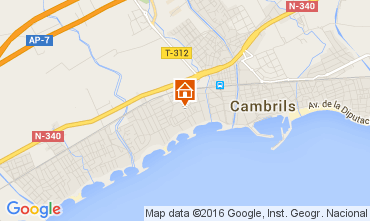 Mapa Cambrils Apartamentos 104427