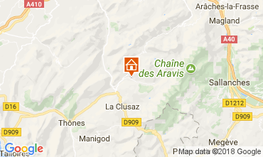 Mapa Le Grand Bornand Apartamentos 112885