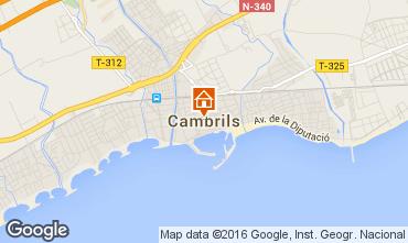 Mapa Cambrils Apartamentos 16001