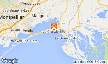 Mapa La Grande Motte Apartamentos 95068