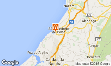 Mapa São Martinho do Porto Apartamentos 74983