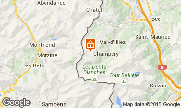 Mapa Les Crosets Apartamentos 4697