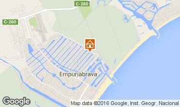 Mapa Empuriabrava Apartamentos 102557