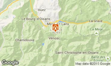 Mapa Les 2 Alpes Apartamentos 1290