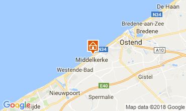Mapa Middelkerke Apartamentos 115900