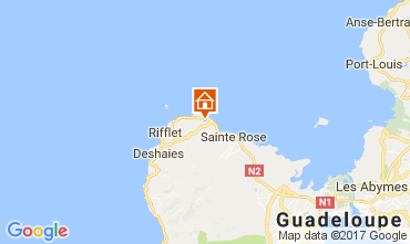 Mapa Deshaies Casa de turismo rural/Casa de campo 95999