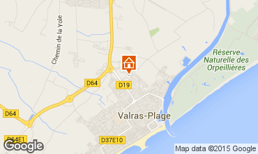 Mapa Valras-Praia Mobil Home 81101