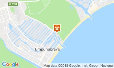 Mapa Empuriabrava Apartamentos 82724