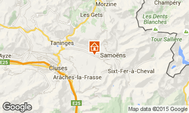 Mapa Morillon Grand Massif Chalé 66506