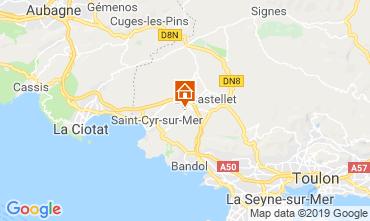 Mapa La Cadière d'Azur Casa 96924