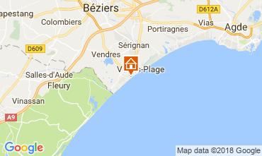 Mapa Valras-Praia Estúdio 113797