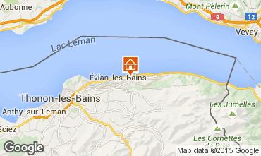 Mapa Evian les Bains Casa de turismo rural/Casa de campo 14092