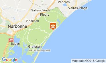Mapa Narbonne praia Casa 114046