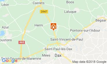Mapa Saint Paul les Dax Casa de turismo rural/Casa de campo 116567