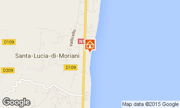 Mapa Moriani Plage Apartamentos 19580