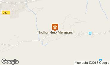 Mapa Thollon Les M�mises Apartamentos 101411