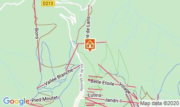 Mapa Les 2 Alpes Chalé 33878