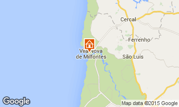 Mapa Vila Nova de Milfontes Apartamentos 45283