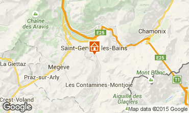 Mapa Saint-Gervais-les-Bains Apartamentos 2577