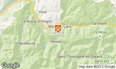 Mapa Les 2 Alpes Est�dio 1201