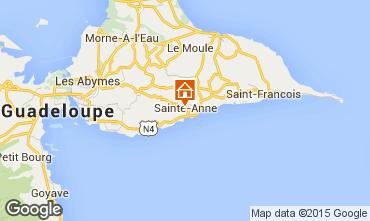 Mapa Sainte Anne (Guadalupe) Bungalow 8036