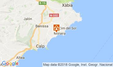 Mapa Moraira Vivenda 115607