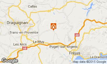 Mapa Roquebrune sur Argens Vivenda 76912