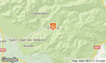 Mapa Orci�res Merlette Casa de turismo rural/Casa de campo 82244